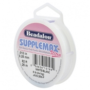 Beadalon rijgdraad Supplemax Ultra 0.25mm 25 meter White