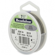 Beadalon Rijgdraad 7 draads 0.61mm Bright Stainless Steel