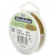 Beadalon Rijgdraad 7 draads 0.46mm Satin Gold
