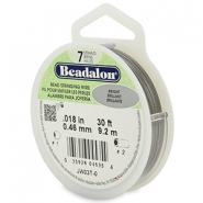 Beadalon Rijgdraad 7 draads 0.46mm Bright Stainless Steel