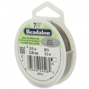 Beadalon Rijgdraad 7 draads 0.38mm Bright Stainless Steel