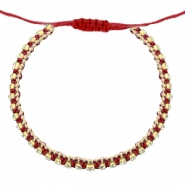 Trendy armbanden strass Cherry red-crystal