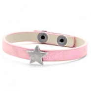 Trendy armbanden stud star Metallic rose pink