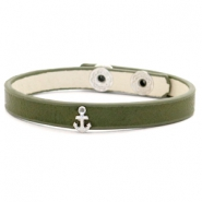Trendy armbanden stud anchor Dark green