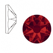Swarovski Elements 2088-SS 34 flatback (7mm) Xirius Rose Light siam red