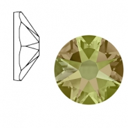 Swarovski Elements 2088-SS 34 flatback (7mm) Xirius Rose Crystal luminous green
