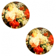 Cabochon basic 12mm Flowers-multicolour red