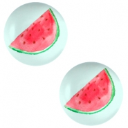 Cabochon basic 20mm Watermelon-light turquoise blue