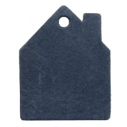 DQ leer hangers huis Dark denim blue