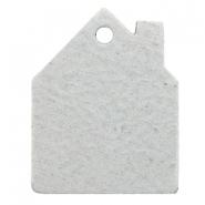 DQ leer hangers huis Light grey