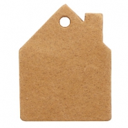DQ leer hangers huis Light cognac brown