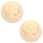 Cabochon basic camee 20mm Light peach-beige