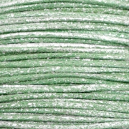 Waxkoord metallic 0.5mm Leaf green