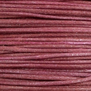 Waxkoord metallic 0.5mm Burgundy red