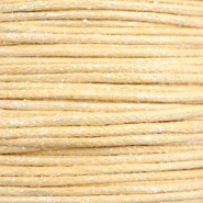 Waxkoord metallic 1.0mm Yellow beige