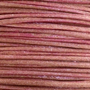 Waxkoord metallic 2.0mm Mahogany red