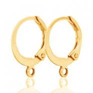 DQ oorringen 12mm Gold plated