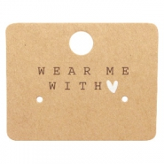 "Sieraden kaartjes ""Wear Me With ♥"" Brown"
