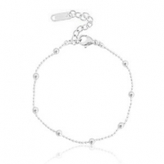 Roestvrij stalen (RVS) Stainless steel armbanden ball chain Silver