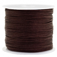 Macramé draad 0.8mm Burgundy brown