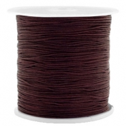 Macramé draad 0.5mm Chocolate brown