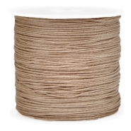 Macramé draad 0.8mm Light brown
