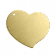 ImpressArt stamp labels bedel hart 18mm Brass Licht goud