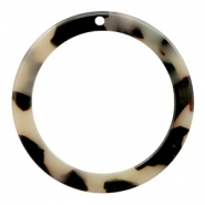 Resin hangers rond 35mm Creme-black
