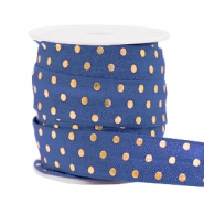 Elastisch lint dots Dark blue
