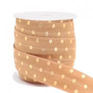 Elastisch lint dots Camel brown