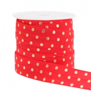 Elastisch lint dots Red