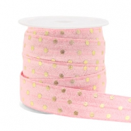Elastisch lint dots Light pink