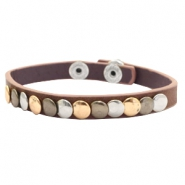 Trendy armbanden met studs Dark brown
