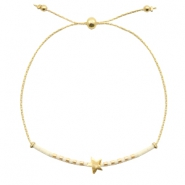 Trendy armbanden met ster Off white-gold