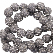 Strass kralen 10mm Anthracite