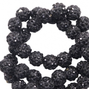 Strass kralen 8mm Black