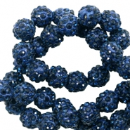 Strass kralen 8mm Dark blue