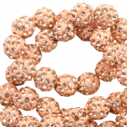 Strass kralen 8mm Peach
