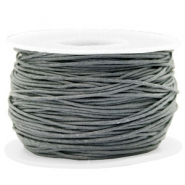 Waxkoord 1mm Gallant grey
