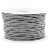 Waxkoord 1.5mm Chromium grey