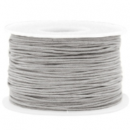 Waxkoord 1mm Light grey
