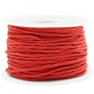 Waxkoord 1.5mm Warm red
