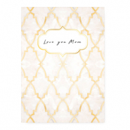 "Sieraden kaartjes ""Love you Mom"" Rose"