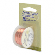 Artistic Wire 24 Gauge Bare Copper