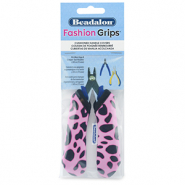 Beadalon fashion grips tangen covers cheetah Roze-zwart