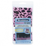 Beadalon fashion tangen etui cheetah Roze-zwart