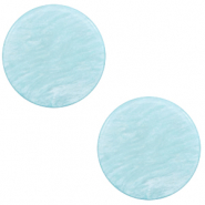 12 mm platte cabochon Polaris Elements Lively Sky blue