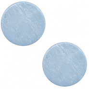 12 mm platte cabochon Polaris Elements Lively Powder blue