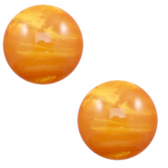 12 mm classic Cabochon Polaris Elements Mosso shiny Caramel yellow