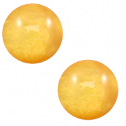 12 mm classic Cabochon Polaris Elements Mosso shiny Mineral yellow